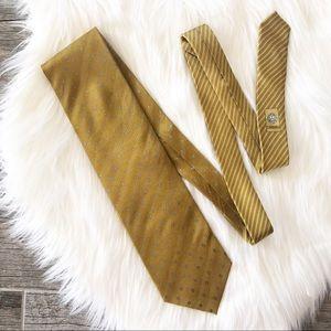 VERSACE Vintage Gold Men's Neck Tie
